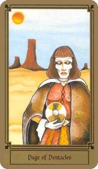 Page of Pumpkins Tarot Card - Fantastical Tarot Deck