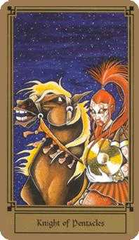Cavalier of Coins Tarot Card - Fantastical Tarot Deck