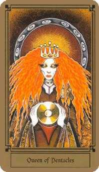Reine of Coins Tarot Card - Fantastical Tarot Deck