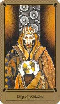 Shaman of Discs Tarot Card - Fantastical Tarot Deck