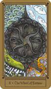 Wheel of Fortune Tarot card in Fantastical Tarot Tarot deck
