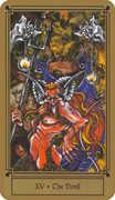 The Devil Tarot card in Fantastical Tarot Tarot deck