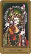 Queen of Wands Tarot card in Fantastical Tarot Tarot deck
