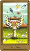 Ace of Cups Tarot card in Fantastical Tarot Tarot deck