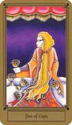 Five of Cups Tarot card in Fantastical Tarot Tarot deck