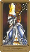 The Hierophant Tarot card in Fantastical Tarot Tarot deck