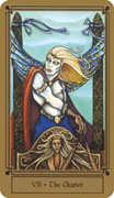 The Chariot Tarot card in Fantastical Tarot Tarot deck