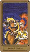 Knight of Coins Tarot card in Fantastical Tarot Tarot deck