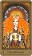 Queen of Coins Tarot card in Fantastical Tarot Tarot deck