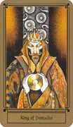 King of Coins Tarot card in Fantastical Tarot Tarot deck