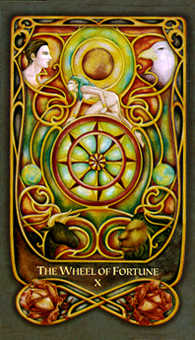 The Wheel of Fortune Tarot Card - Fenestra Tarot Deck