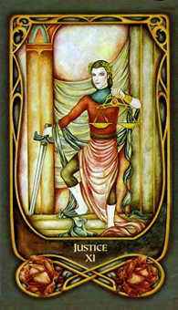Justice Tarot Card - Fenestra Tarot Deck
