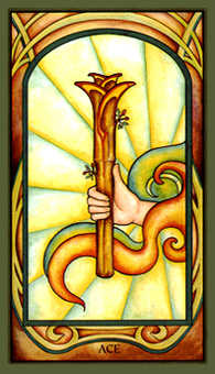 Ace of Staves Tarot Card - Fenestra Tarot Deck