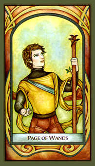 Daughter of Wands Tarot Card - Fenestra Tarot Deck
