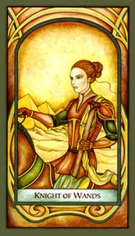 Knight of Staves Tarot Card - Fenestra Tarot Deck