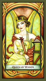 Queen of Rods Tarot Card - Fenestra Tarot Deck