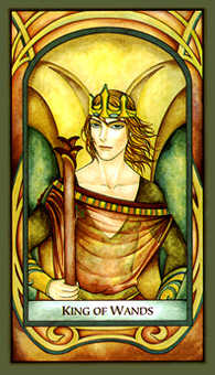 King of Staves Tarot Card - Fenestra Tarot Deck