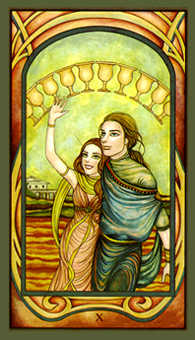 Ten of Hearts Tarot Card - Fenestra Tarot Deck