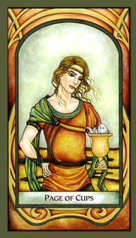 Page of Hearts Tarot Card - Fenestra Tarot Deck