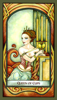 Queen of Bowls Tarot Card - Fenestra Tarot Deck