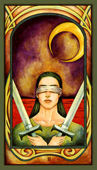 Two of Arrows Tarot Card - Fenestra Tarot Deck