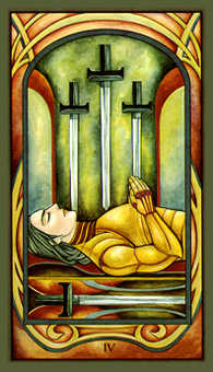 Four of Swords Tarot Card - Fenestra Tarot Deck