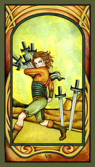 Seven of Swords Tarot Card - Fenestra Tarot Deck