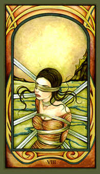 Eight of Spades Tarot Card - Fenestra Tarot Deck