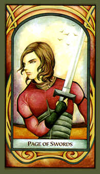 Daughter of Swords Tarot Card - Fenestra Tarot Deck
