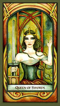 Queen of Swords Tarot Card - Fenestra Tarot Deck