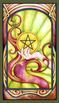 Ace of Pentacles Tarot Card - Fenestra Tarot Deck