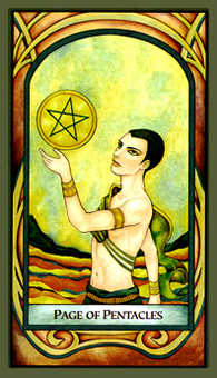 Daughter of Coins Tarot Card - Fenestra Tarot Deck