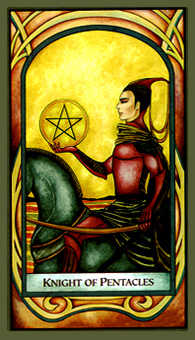 Knight of Coins Tarot Card - Fenestra Tarot Deck