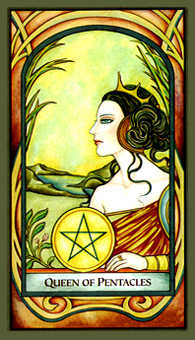 Queen of Coins Tarot Card - Fenestra Tarot Deck