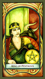King of Discs Tarot Card - Fenestra Tarot Deck