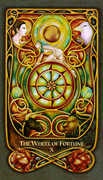 The Wheel of Fortune Tarot card in Fenestra deck
