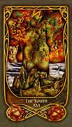 The Tower Tarot card in Fenestra deck