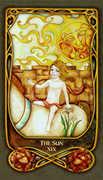 The Sun Tarot card in Fenestra deck