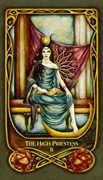 The High Priestess Tarot card in Fenestra Tarot deck