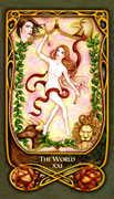 The World Tarot card in Fenestra deck
