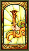 Ace of Wands Tarot card in Fenestra Tarot deck