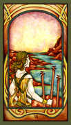 Three of Wands Tarot card in Fenestra Tarot deck