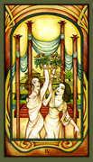 Four of Wands Tarot card in Fenestra Tarot deck