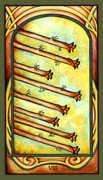 Eight of Wands Tarot card in Fenestra Tarot deck