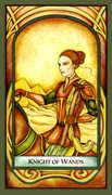 Knight of Wands Tarot card in Fenestra deck