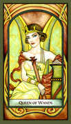 Queen of Wands Tarot card in Fenestra deck