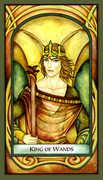 King of Wands Tarot card in Fenestra deck