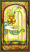Ace of Cups Tarot card in Fenestra Tarot deck