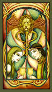 Two of Cups Tarot card in Fenestra deck