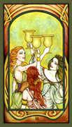 Three of Cups Tarot card in Fenestra Tarot deck